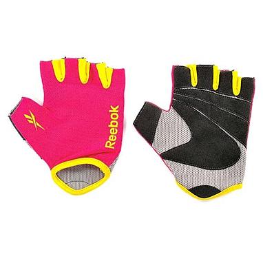 Перчатки для фитнеса Reebok розовые