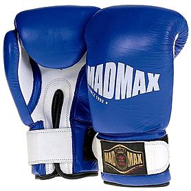 Перчатки боксерские кожаные Mad Max MBG 902 (синие)