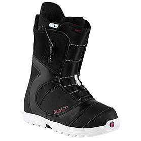 Ботинки для фристайла женские Burton Mint 2014 цвет черный/белый/розовый
