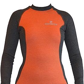 Футболка женская с длинным рукавом Destroyer Outdoor Trekking (серо-оранжевая)