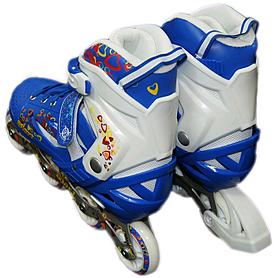 Фото 3 к товару Коньки роликовые раздвижные ZEL Z-096 синие