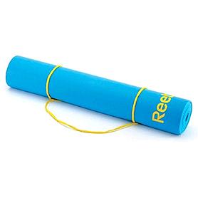 Фото 2 к товару Коврик для йоги (йога-мат) Reebok 4 мм голубой