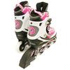 Коньки роликовые раздвижные ZEL Z-5102 розовые - фото 3