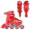Коньки роликовые раздвижные Profi Roller A4051-M красные - фото 2
