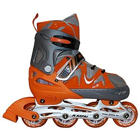 Коньки роликовые раздвижные Kepai F1-K09 оранжевые