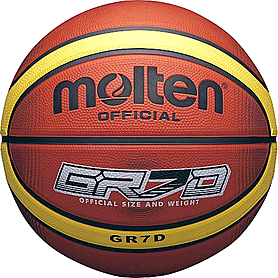 Мяч баскетбольный резиновый Molten BGRX7D-TI №7
