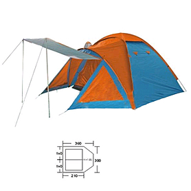 Палатка четырехместная  Mountain Outdoor (ZLT) BL-1009