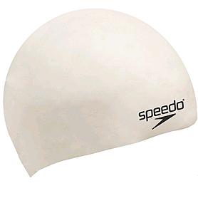 Шапочка для плавания детская Speedo Moulded Silicone Cap Ju White