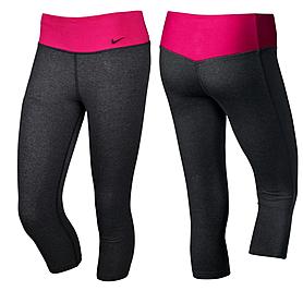 Капри женские спортивные Nike Legend 2.0 Ti Dfc Capri черно-розовые