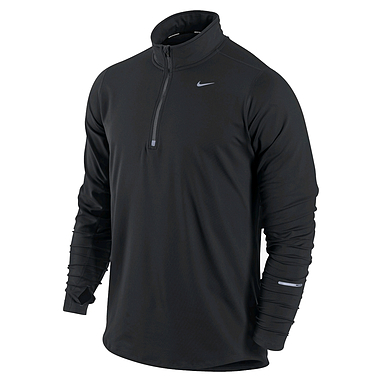 Футболка мужская Nike Element 1/2 Zip черная