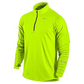Фото 1 к товару Футболка мужская Nike Element 1/2 Zip зеленая