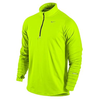 Футболка мужская Nike Element 1/2 Zip зеленая