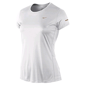 Футболка женская Nike Miler SS Crew Top белая