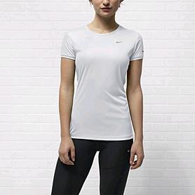 Фото 2 к товару Футболка женская Nike Miler SS Crew Top белая