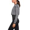 Футболка женская Nike Epic Cool Touch LS Crew серая с черным - фото 2