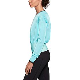 Фото 2 к товару Футболка женская Nike Epic Cool Touch LS Crew голубая