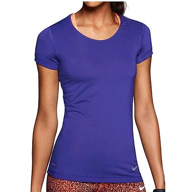 Футболка женская Nike Pro Hypercool SS Top синяя 589377-455