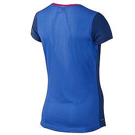 Фото 2 к товару Футболка женская Nike Pro Hypercool SS Top синяя 589377-455