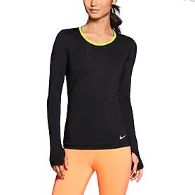 Фото 2 к товару Футболка женская Nike Pro Hypercool LS Top черная