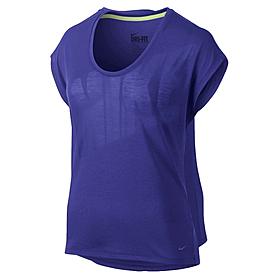 Фото 1 к товару Футболка женская Nike Club Boxy Tee Logo синяя 637553-455