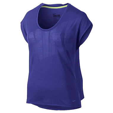 Футболка женская Nike Club Boxy Tee Logo синяя 637553-455