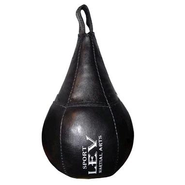 Груша боксерская набивная Лев (кожа) 34х20 см