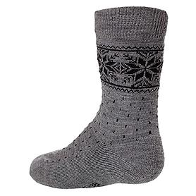 Термоноски детские Norveg Soft Merino Wool Kids серая снежинка - XL