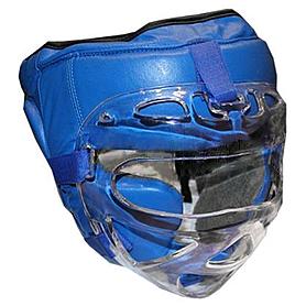Шлем с маской (кожа) Everlast синий