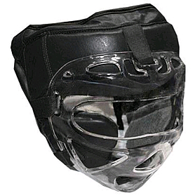 Шлем с маской (кожа) Everlast черный