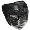 Шлем с маской (кожа) Everlast черный - фото 1