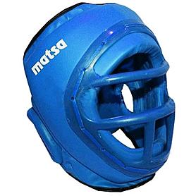 Шлем с пластмассовой маской (PVC) Matsa синий