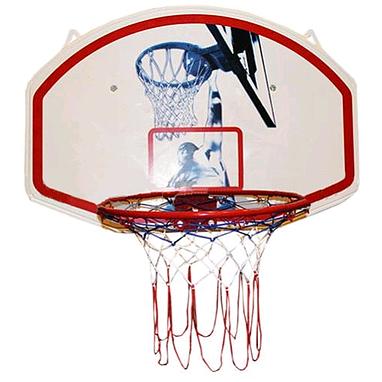 Щит баскетбольный с кольцом и сеткой BA-3522 (90х60 см)