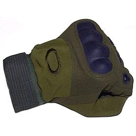 Фото 3 к товару Перчатки тактические полнопалые Oakley 94025 зеленые