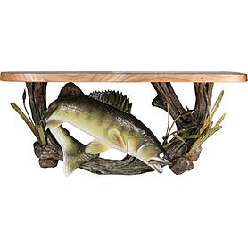 Фото 1 к товару Полка деревянная с керамическим декором Rivers Edge