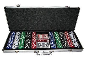 Набор для игры в покер 500 фишек без номинала