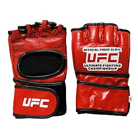 Перчатки без пальцев кожаные UFC MA-1803 (красные)