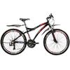 Велосипед горный Premier Bandit 3.0 черный с голубо-красно-белым рама - 17