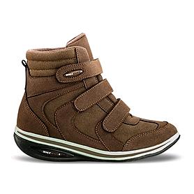 Ботинки на танкетке женские, коричневые WalkMaxx