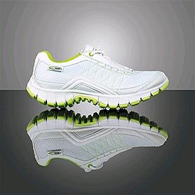 Кроссовки ультралегкие бело-зеленые WalkMaxx