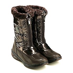 Фото 2 к товару Сапожки зимние на молнии, коричневые WalkMaxx