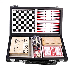 Набор игр 6 в 1: карты, шахматы, шашки, нарды, домино, кости