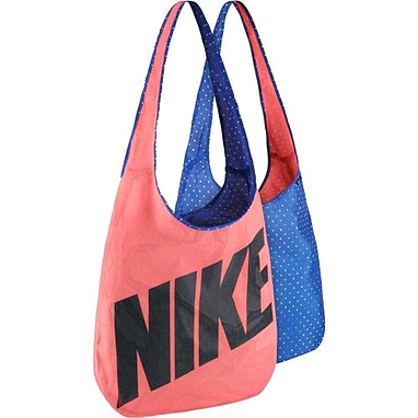 Сумка женская Nike Graphic Reversible Tote коралловый с синим