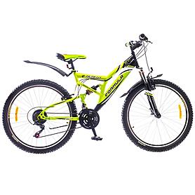 """Велосипед горный Formula Berkut 26"""" 2015 черно-зеленый рама - 18"""""""