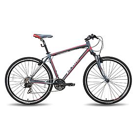 """Велосипед универсальный Pride Cross 1.0 28'' серо-красный матовый 2015  рама - 21"""""""