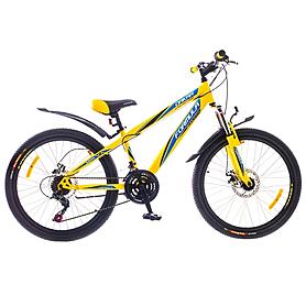 """Велосипед подростковый горный Formula Dakar 2015 - 24"""", рама - 13"""", желтый (PCT*-FR-24-002-1)"""