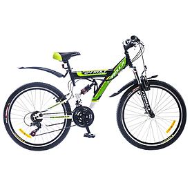 """Велосипед подростковый горный Formula Kolt 2015 - 24"""", рама - 16"""", черно-зеленый (PCT*-FR-24-010-1)"""