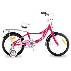 """Велосипед детский Optima Caramel 16"""" бело-розовый"""