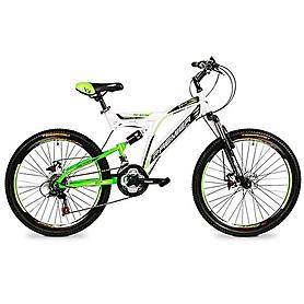"""Велосипед подростковый горный Premier Raptor 24 Disc TX30 - 24"""", рама - 16"""", бело-зеленый (TI-13810)"""