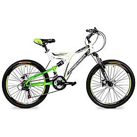 """Велосипед подростковый горный Premier Raptor 24 Disc RS35 - 24"""", рама - 16"""", бело-зеленый (TI-13807)"""
