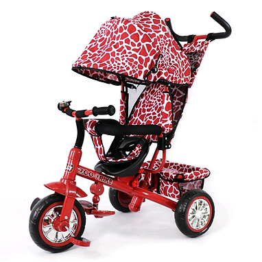 Велосипед детский трехколесный Baby Tilly Blue Zoo-Trike BT-CT-0005 Dark Red